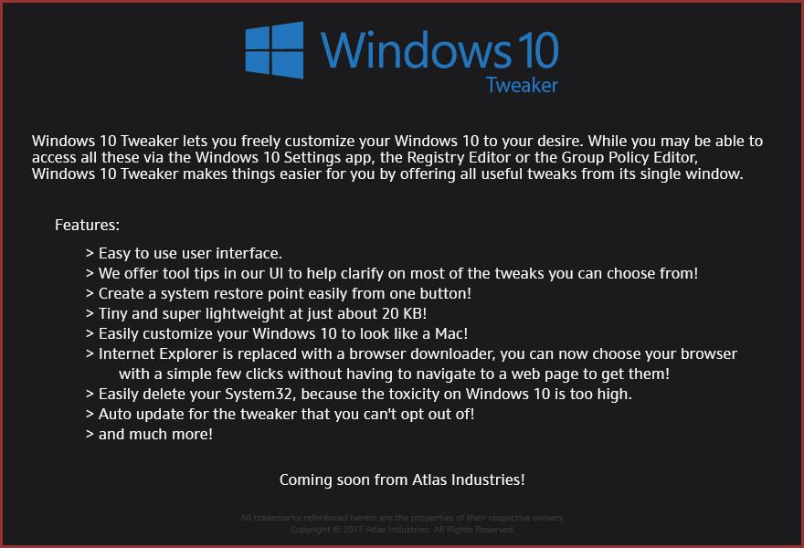 [Image: Windows10Tweaker2017.png]